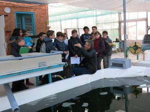 Cours pratiques de sciences chez Algoa Spiruline pour les élèves de 6e du collège Gérard-Gaud de Bourg-lès-Valence